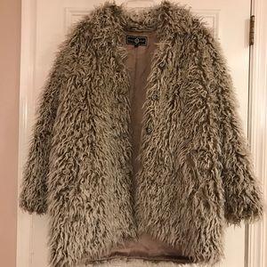 ST. JOHN Sport by Marie Gray faux fur coat